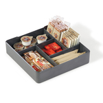 Organizer da tavolo Coffee Point - 4,8x21x21 cm - ABS - grigio carbone - Durable
