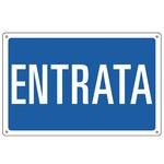 Cartello segnalatore - 30x20 cm - ENTRATA - alluminio - Cartelli Segnalatori
