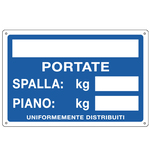 Cartello segnalatore - 30x20 cm - PORTATE: SPALLA/PIANO - alluminio - Cartelli Segnalatori