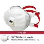 Mascherina 8835+ Premium FFP3 - con valvola - monouso - 3M - scatola da 5 pezzi