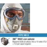 Mascherina 9922 - con carboni attivi - monouso -  filtro FFP2 - 3M - conf. 10 pezzi