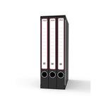 Gruppo registratori Terzetto - con 3 cartelle ad anelli - 25,5x34,5 cm - dorso 15 cm - grigio - Rexel