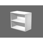Mobile contenitore - basso - a giorno - 80x45x73 cm - bianco - Artexport