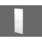 Coppia ante Agorà - per mobile contenitore alto - melaminico - con serratura - bianco - Artexport