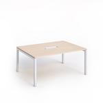 Tavolo riunioni Agorà - 6 posti - 160x120x72,5 cm - rovere - Artexport