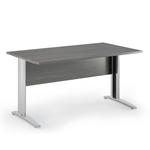 Scrivania Easy Metal - lineare - 160x80cm - frassino toscano - Artexport