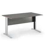Scrivania Easy Metal - lineare - 140x80x72 cm - frassino toscano - Artexport