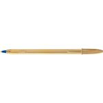 Penna a sfera Cristal Shine con cappuccio - punta media 1,0mm - nero - fusto gold  - Bic - scatola 20 penne