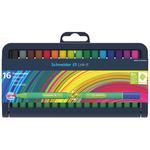 Pennarello Link-It punta feltro - punta 1,00mm - colori assortiti - Schneider - astuccio 16 colori