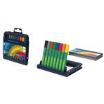 Pennarello Link-It punta feltro - punta 1,00mm - colori assortiti  - Schneider - astuccio 8 colori