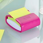 Dispenser Pro fucsia + 1 Post it® Super Sticky Z Notes verde asparago - 76 x 76mm - Post it®