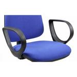 Coppia braccioli fissi per sedia operativa TMTMI - nero - Unisit