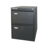 Classificatore Kubo - per cartelle sospese - 2 cassetti - 46x62x70 cm - nero - Bertesi