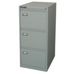 Classificatore Kubo - per cartelle sospese - 3 cassetti - 46x62x101 cm - grigio - Bertesi