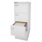 Classificatore Kubo - per cartelle sospese -  4 cassetti - H132cm - bianco - Bertesi