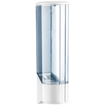 Dispenser per bicchieri in plastica -10x10x31,5 cm - bianco/azzurro trasparente - Mar Plast