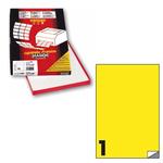 Etichetta adesiva C503 Markin - giallo fluo - 210x297 mm - 1 etichetta per foglio - scatola 100 fogli A4