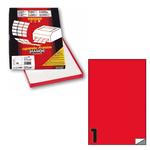 Etichetta adesiva C503 Markin - rosso fluo - 210x297 mm - 1 etichetta per foglio - scatola 100 fogli A4