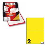 Etichetta adesiva C509 - permanente - 210x148 mm - 2 etichette per foglio - giallo fluo - Markin - scatola 100 fogli A4