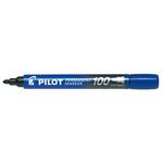 Marcatore Permanente Markers 100 - punta tonda 4,50mm - blu - Pilot