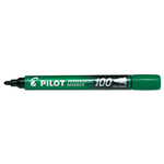 Marcatore Permanente Markers 100 - punta tonda 4,50mm - verde - Pilot