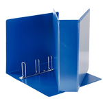 Raccoglitore personalizzabile Display - 4 anelli quadri 65 mm - dorso 8,5 cm - 22x30 cm - blu - Esselte