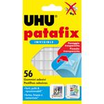 Blister 56 supporti trasparenti gomma adesiva uhu patafix invisible