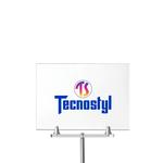 Porta avvisi - acrilico - A4 - orizzontale - per espositori con semisfere - Tecnostyl