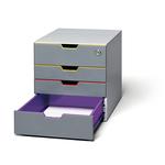 Cassettiera Varicolor® Safe - 28x29,2x35,6 cm - 4 cassetti - Durable