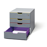 Cassettiera Varicolor® Safe - 28x29,2x35,6 cm - 4 cassetti - Durable