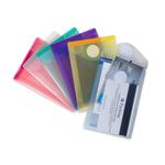Buste con velcro - PP - formato verticale - 8x11.5 cm - colori assortiti - Tarifold - set 6 colori