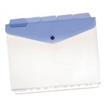 Buste a foratura universale con bottone e separatori - 21x29,7 cm - trasparente - Beautone - conf. 5 pezzi