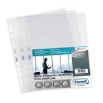 Buste forate L\Originale - Top - liscio - 30x42 cm (libro) - trasparente - Favorit - conf. 10 pezzi