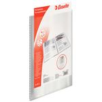 Portalistini personalizzabile - 22x30 cm - 30 buste antiriflesso - trasparente - Esselte