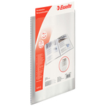 Portalistini personalizzabile - 22x30 cm - 80 buste antiriflesso - trasparente - Esselte