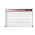 Planner magnetico settimanale - 90x60 cm - silver - Bi-Office