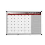 Planner magnetico mensile - 90x60 cm - silver - Bi-Office