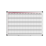 Planner magnetico annuale - 90x60 cm - silver - Bi-Office