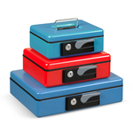 Cassetta portavalori Deluxe - 19,7x15,4x8 cm - rosso - Iternet