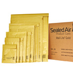 Busta imbottita Mail Lite® Gold - formato H (27x36 cm) - avana - Sealed Air - confezione risparmio da 50 pezzi