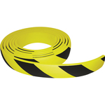 Paracolpi in rotolo da 5 metri - gomma NBR - larghezza 6 cm - giallo/nero