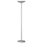 Lampada da terra Varialux - base diametro 30 cm - altezza 175/186 cm - a led - 22W - grigio metal - Unilux