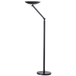 Lampada da terra articolata Varialux - a led - base diametro 30 cm - altezza 175/186 cm - 22W - nero - Unilux