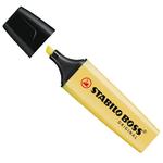 Evidenziatore Boss Original Pastel - punta a scalpello  - tratto da 2,0-5,0mm - colore giallo banana - Stabilo