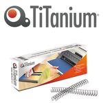 Dorsi spirale - metallo - 34 anelli passo 3:1 - 10 mm - silver - Titanium - scatola 50 pezzi