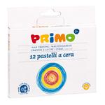 Pastelli a cera jumbo - 100mm - ø10,5mm - Primo - astuccio 12 colori