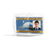 Portabadge rigido - 5,4x8,5 cm - trasparente - Durable - conf. 10 pezzi