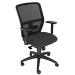Seduta operativa ergonomica Kemper A - braccioli regolabili - nero - Unsit