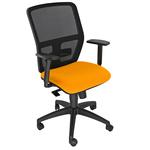 Seduta operativa ergonomica Kemper A - braccioli regolabili - arancio - Unsit