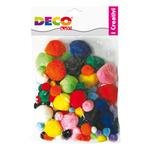 Pompons - colori assortiti - CWR - Busta 40 pezzi